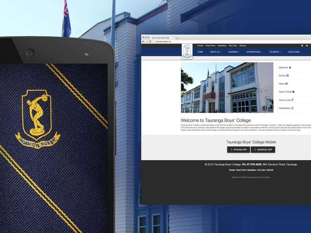 Tauranga Boys' College Website and App Launch