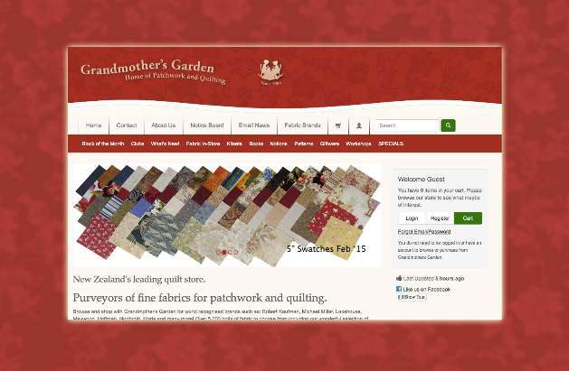 Grandmother's Garden website launch