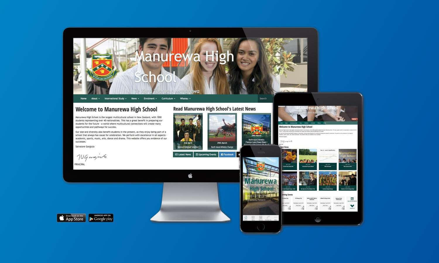 Manurewa High School Website and Mobile applications