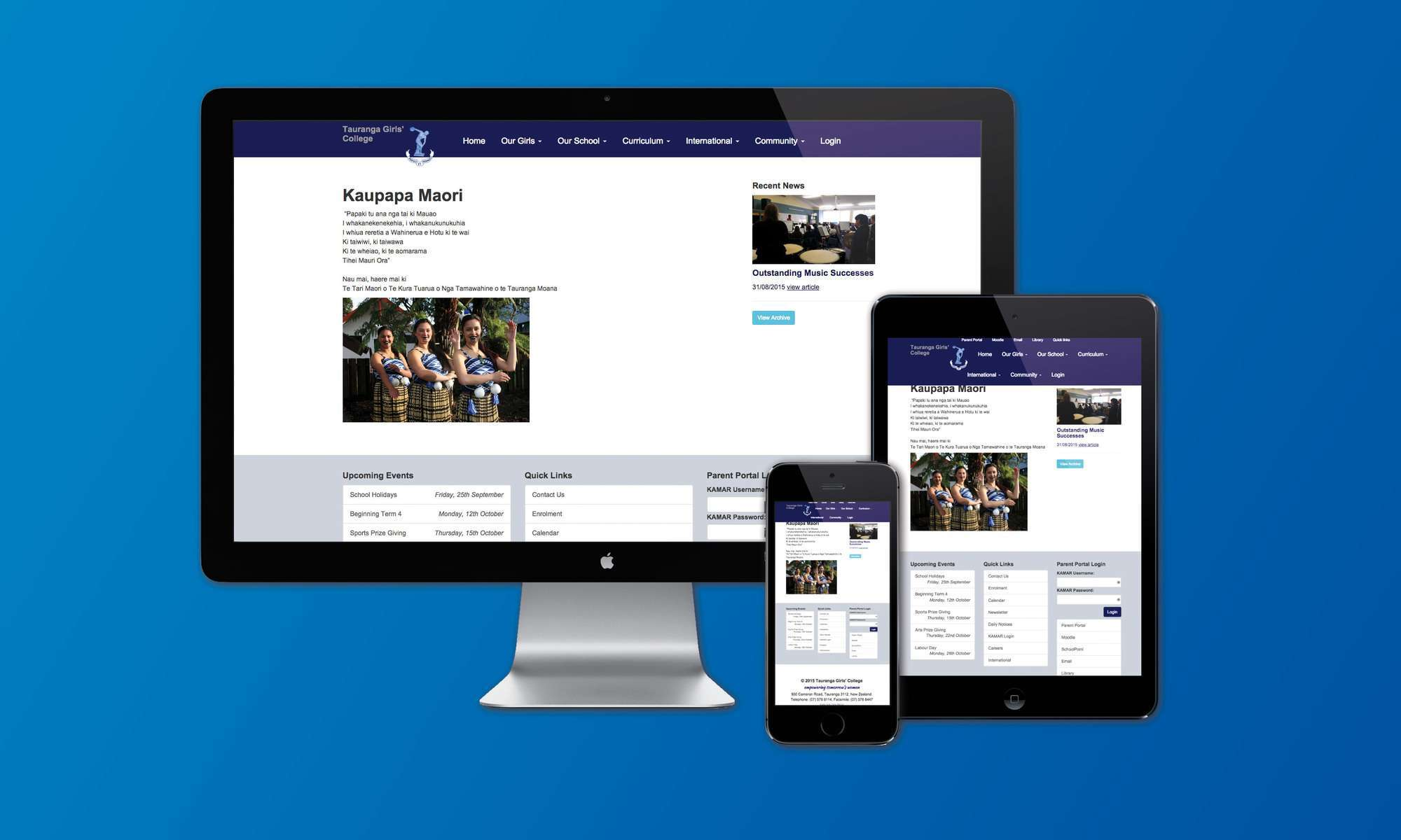 Tauranga Girls' College website launch preview 0