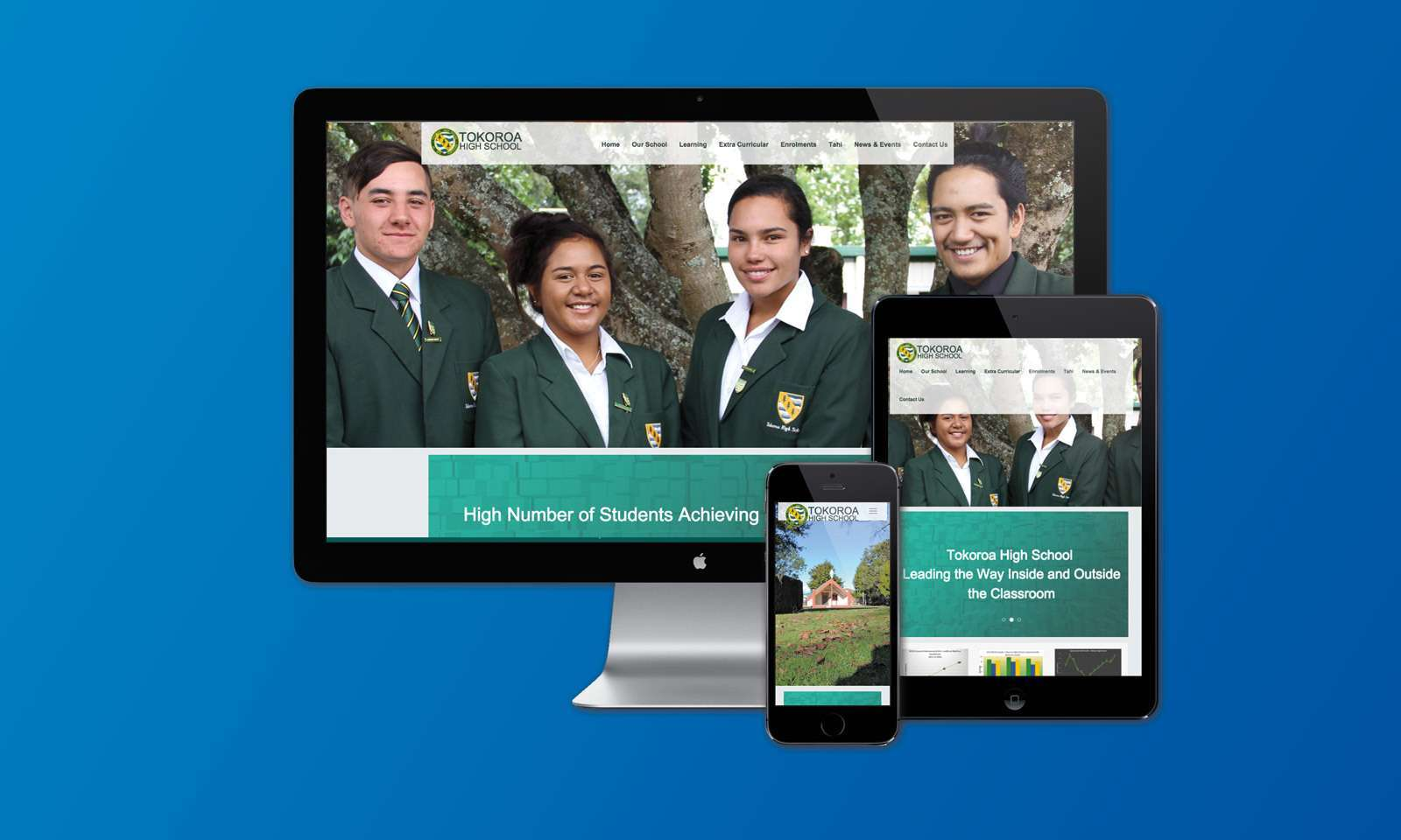 Tokoroa High School new website launched preview 0