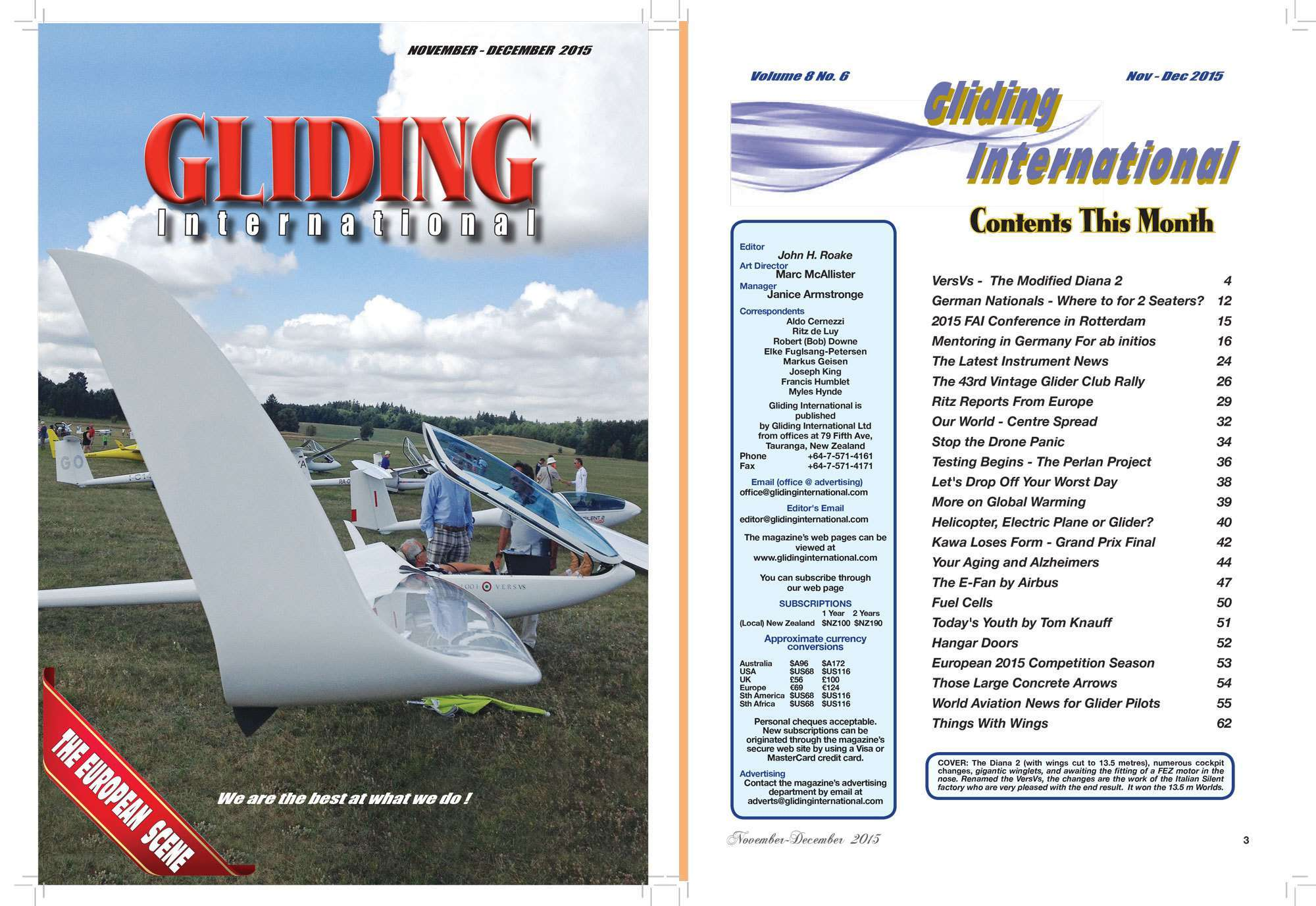 New subscription, digital distribution and managed Facebook postings for Gliding International magazine preview 0