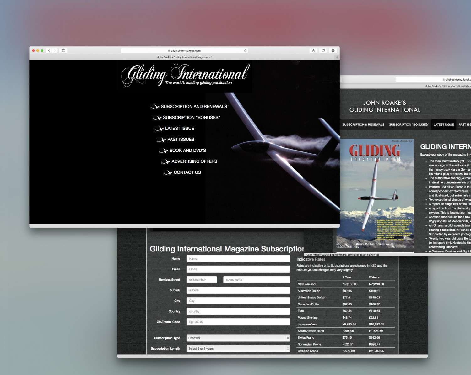 Website Launch: Gliding International Magazine preview 0