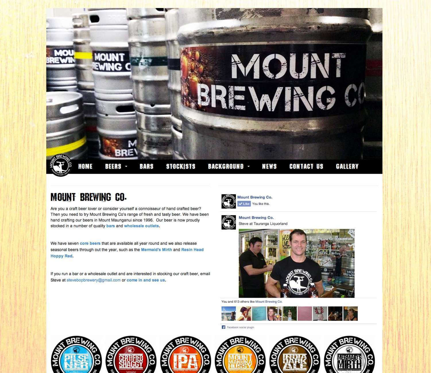 Website Launch: Mount Brewing Co preview 0