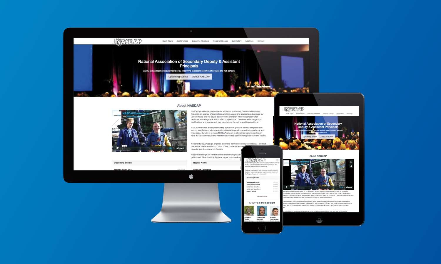 New Responsive website launched for the National Association of Secondary Deputy & Assistant Principals preview 0