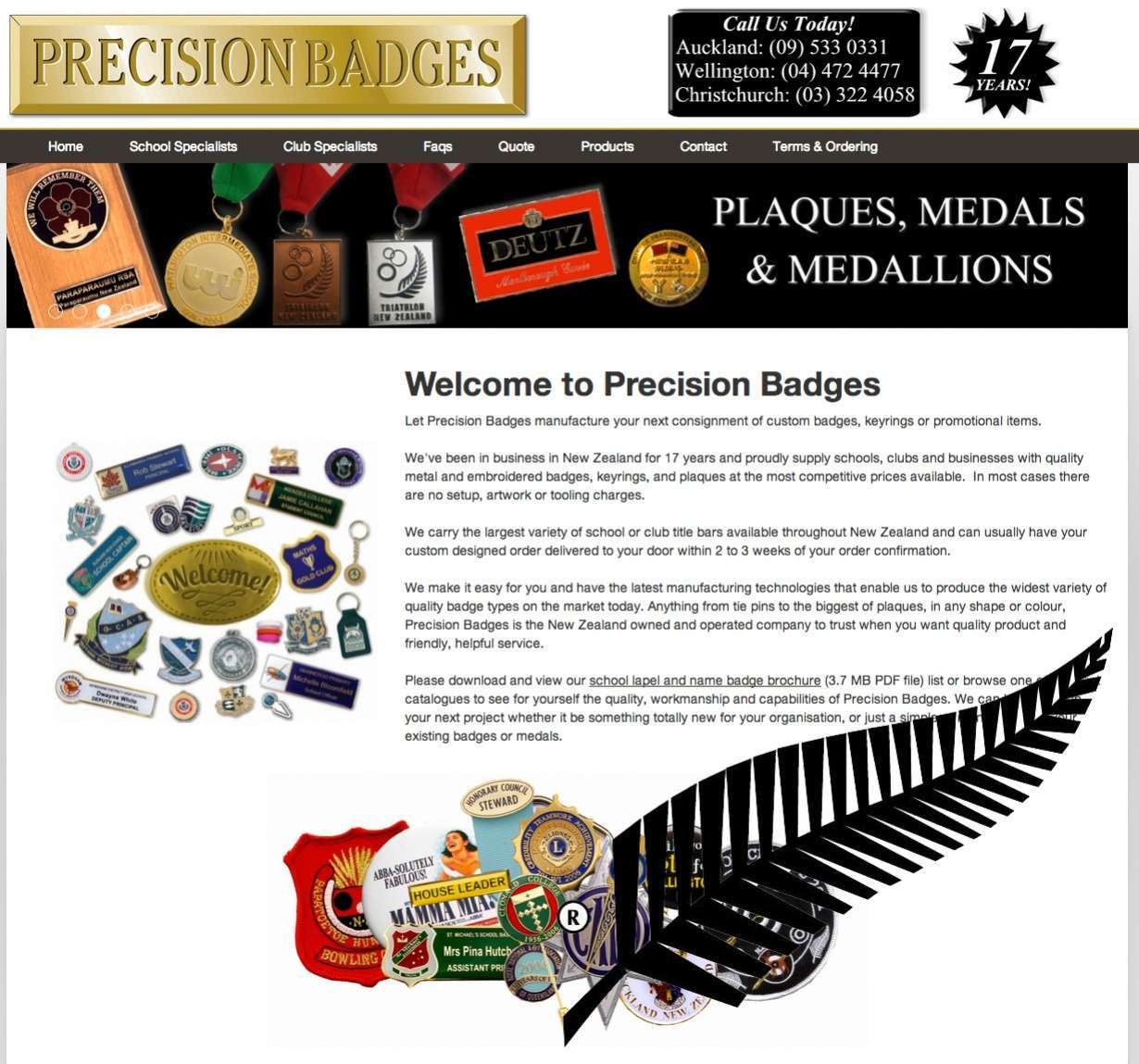New Site Launched: Precision Badges New Zealand preview 0