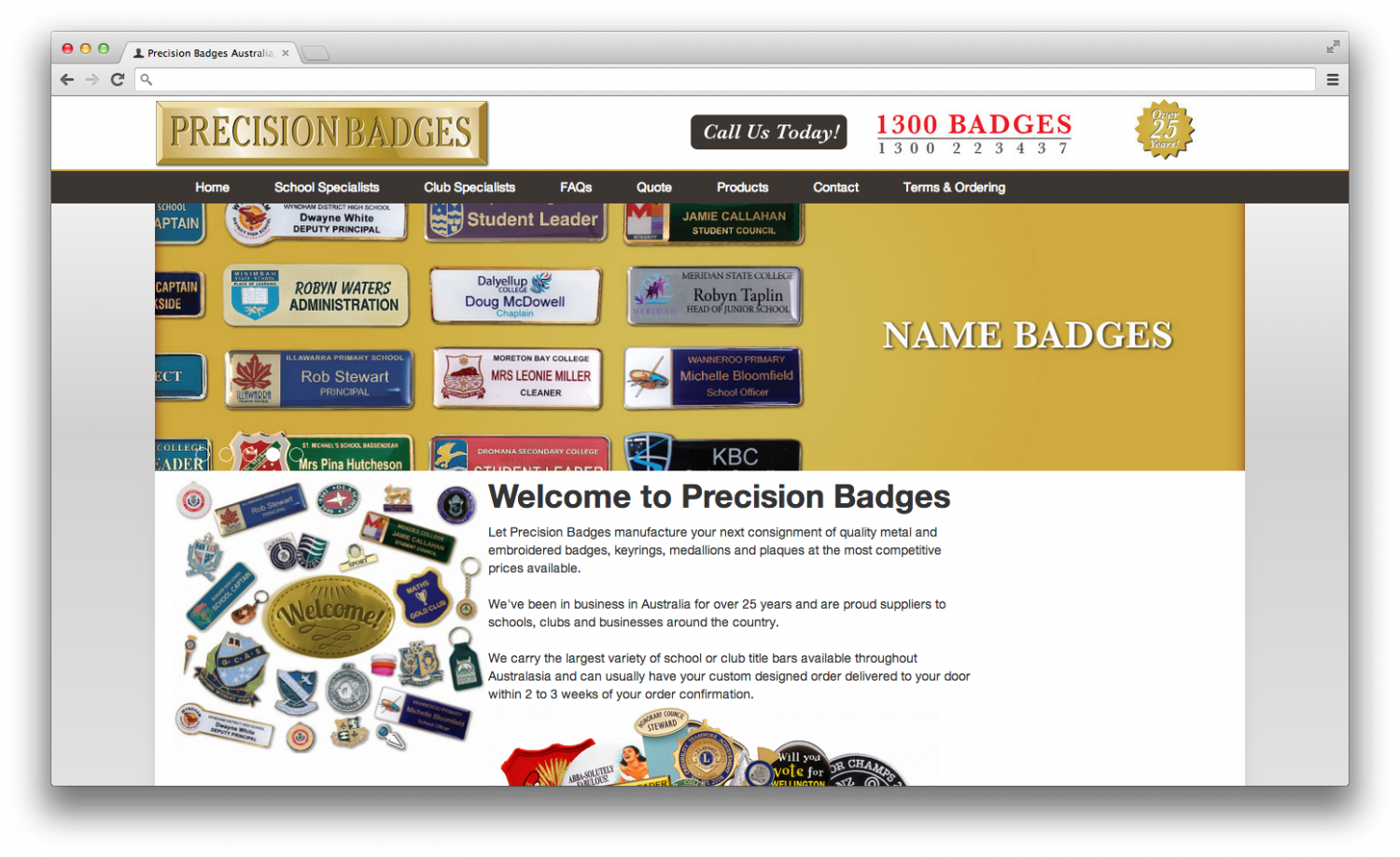 New website launched - Precision Badges Australia