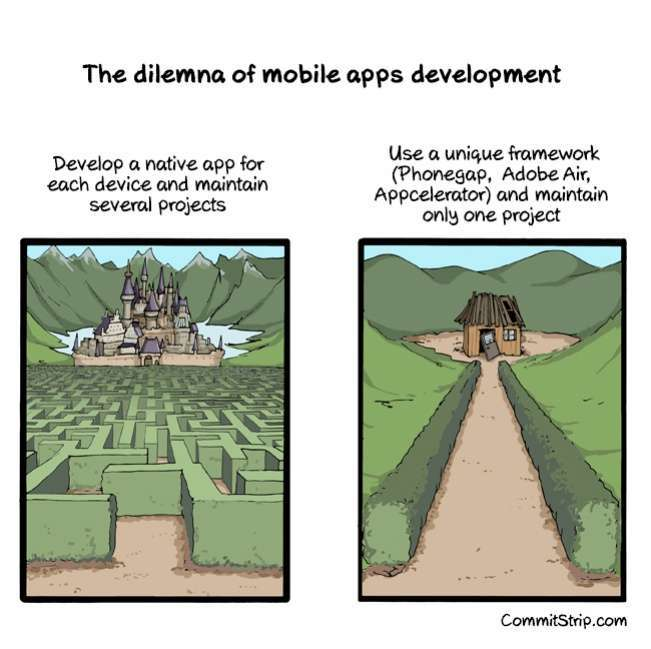 The dilemma of mobile app development preview 0